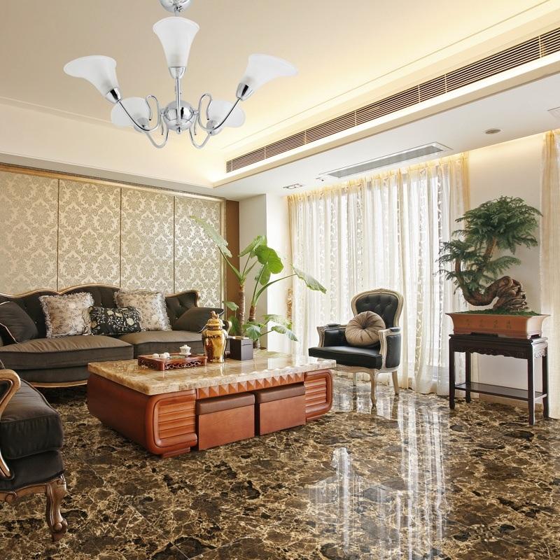 Glazed/ Full Polished Porcelain Tile Dark Emperador Floor Tile