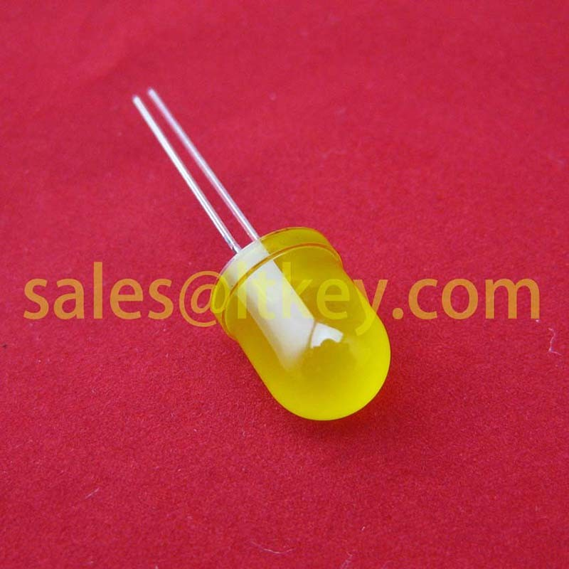 10mm Round Yellow LED Lamp