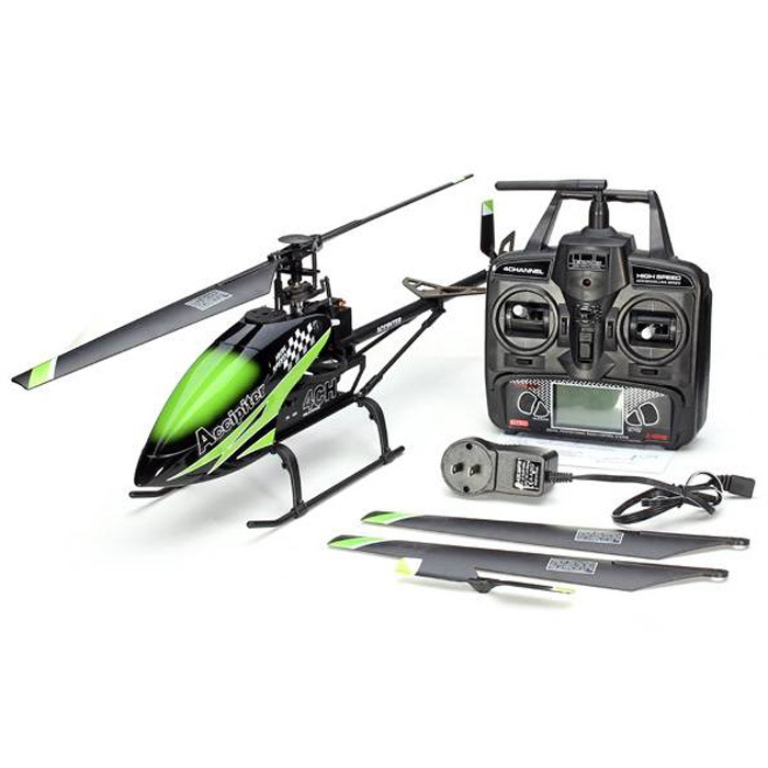 011067c- 2.4GHz Flybarless RC Helicopter - Us Plug - Us Plug