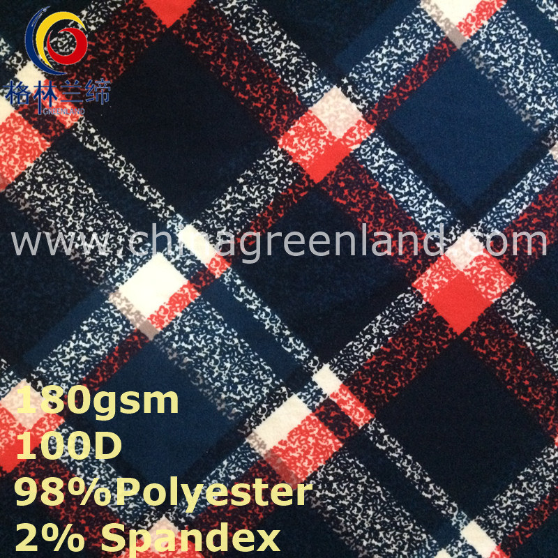 Spandex Polyester Milk Fiber Knitted Peached Fabric for Textile (GLLML361)