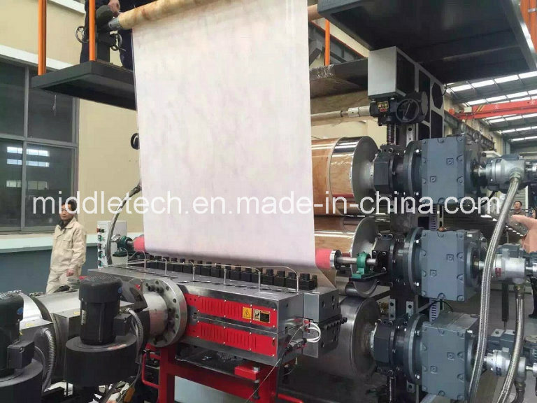 Plastic PVC/PE/PP/Pet (Artificial imitation) Marble Board/ Sheet Extrusion and Making Machine