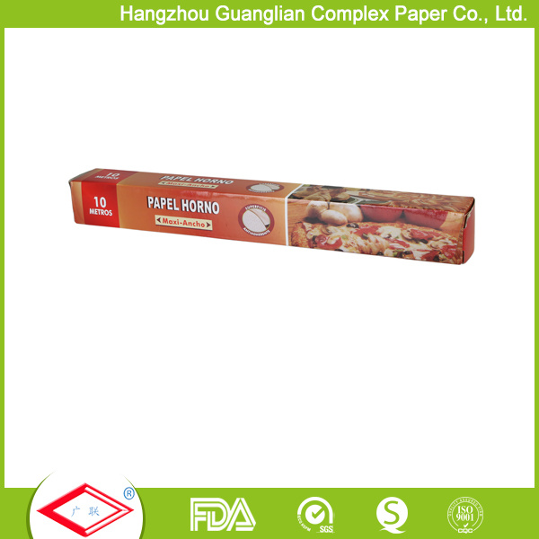 30cmx5m Greaseproof Unbleached Silicone Baking Paper Roll for Oven Use