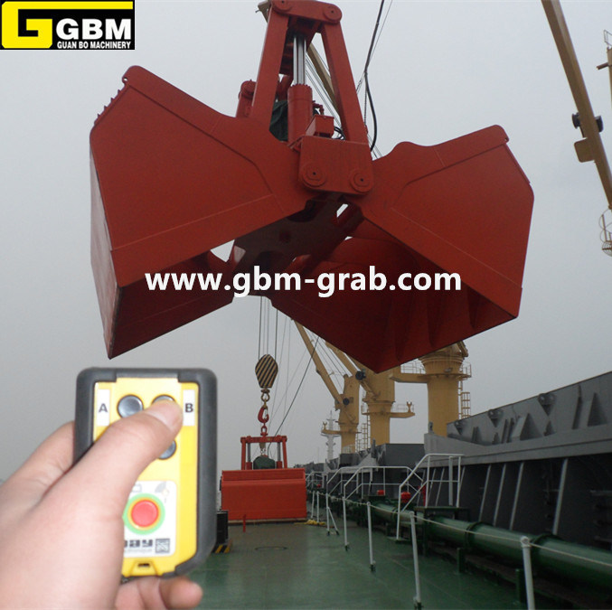 Electro Hydraulic Clamshell Bucket Marine Bulk Carrier Grab
