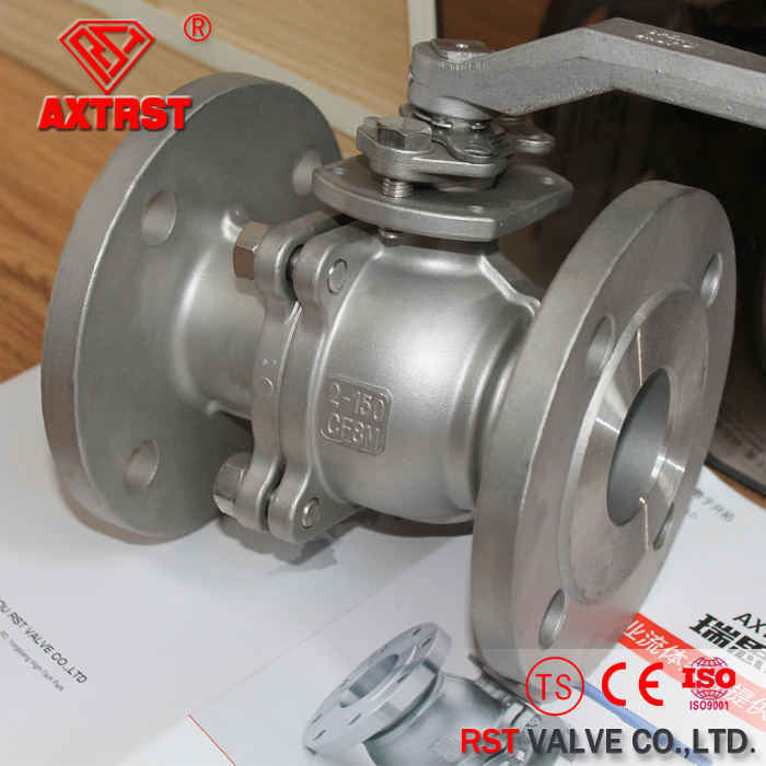 API Stainless Steel Floating 2PC Flange Ball Valve