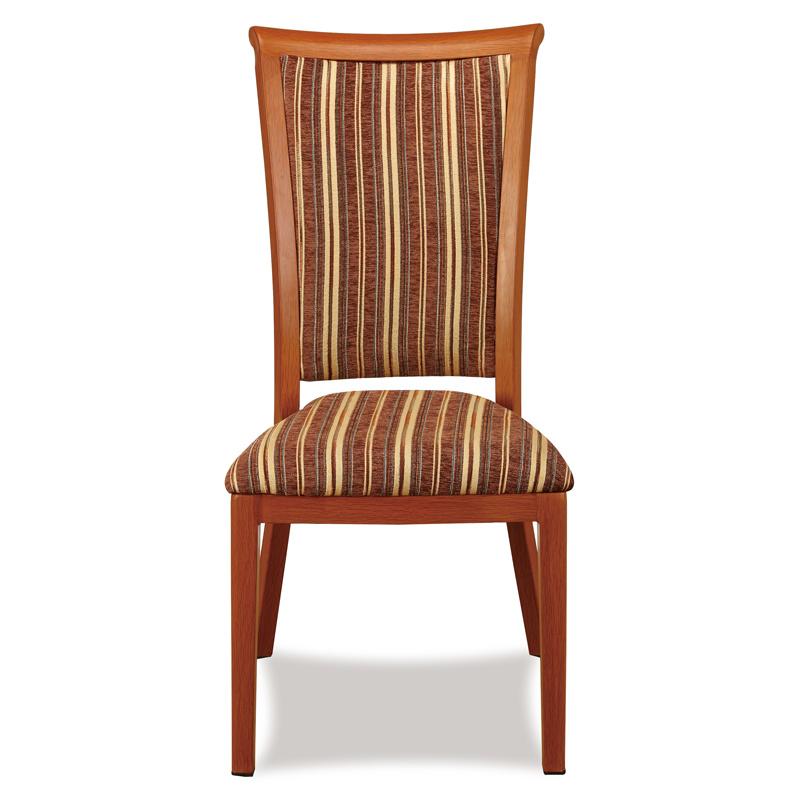Hotel Aluminum Wood Grain Dining Chair