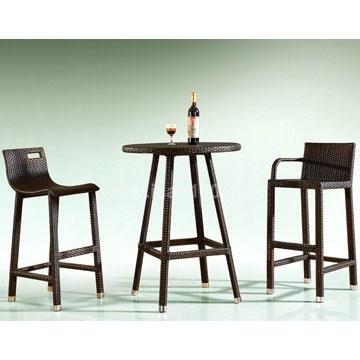 Wicker Bar Set Outdoor Furniture (BF-1008)