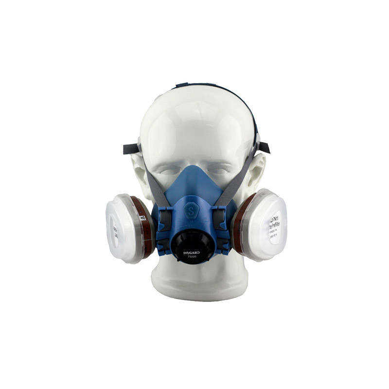Double Filter Respirator Half Gas Mask (7500P)