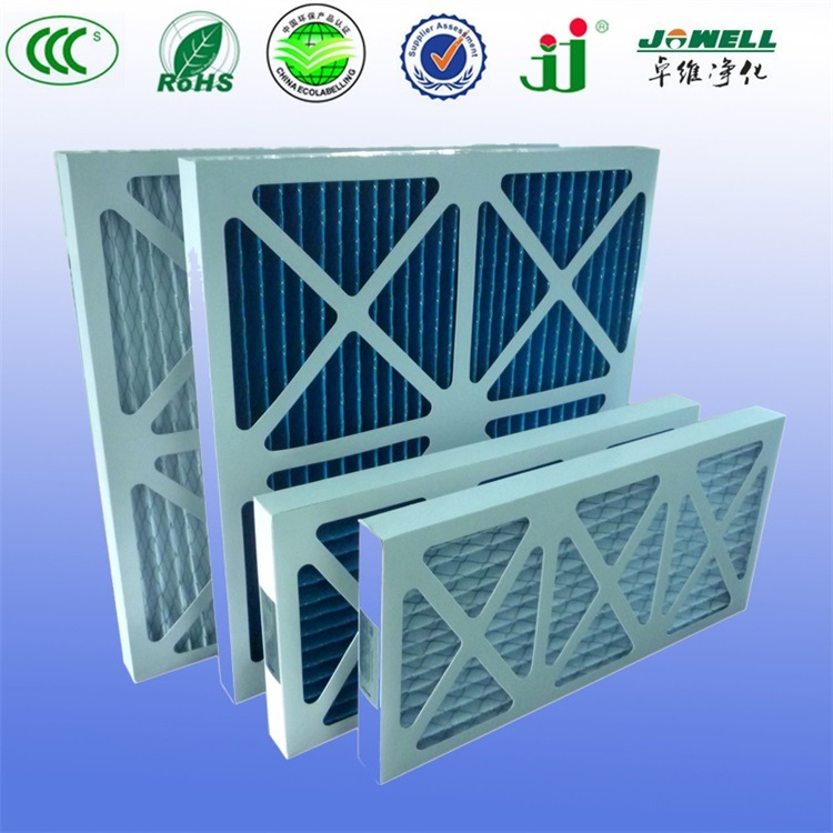 Disposable Cardboard Pleated Panel Filter Pre Filter Synthetic Fiber