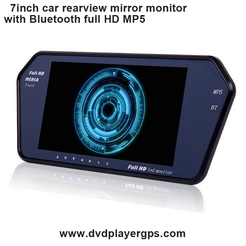 Support Bluetooth MP5 Car Rearview Mirror with Full HD