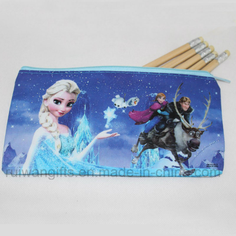 School Stationery Case Frozen Pen Pencil Bag for Children