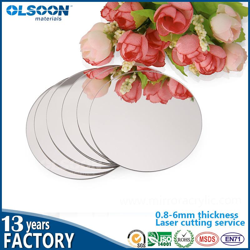 Olsoon Acrylic Home Decor Wall Mirror Large Gold Silver Mirror PMMA Plastic Mirror