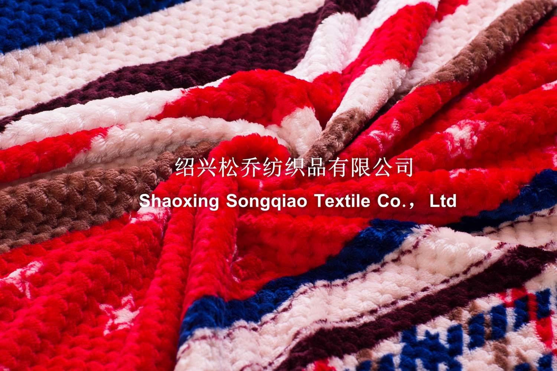 Polyester Jacquard Printed Flannel Fleece Blanket/ Baby Blanket
