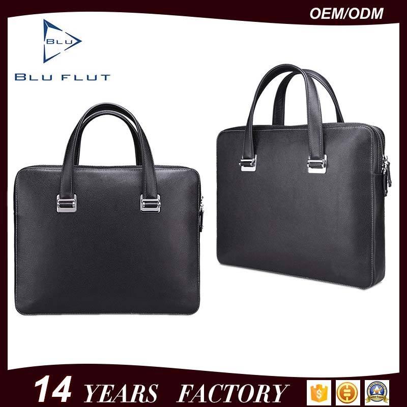 Custom Logo Fashion Bags Genuine Full Grain Leather Briefcase Handbags