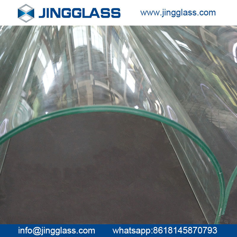 High Quality Safety Tempered Curved Shower Wall Glass
