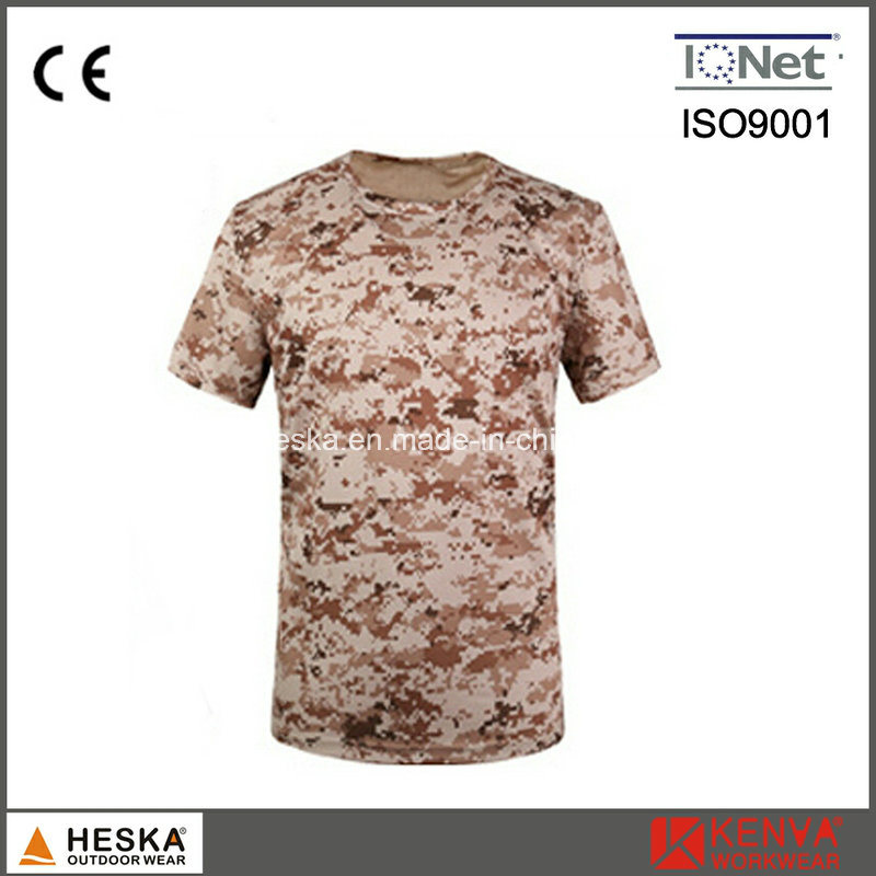 Military Army Color Cotton Mens Camouflage T Shirt