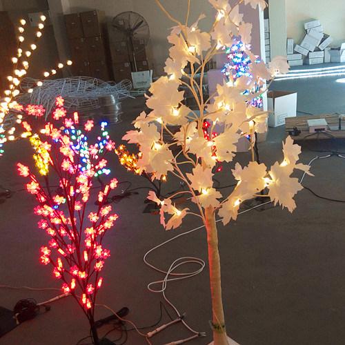 LED Christmas Twig Tree Light Decorated Christmas Tree Ideas