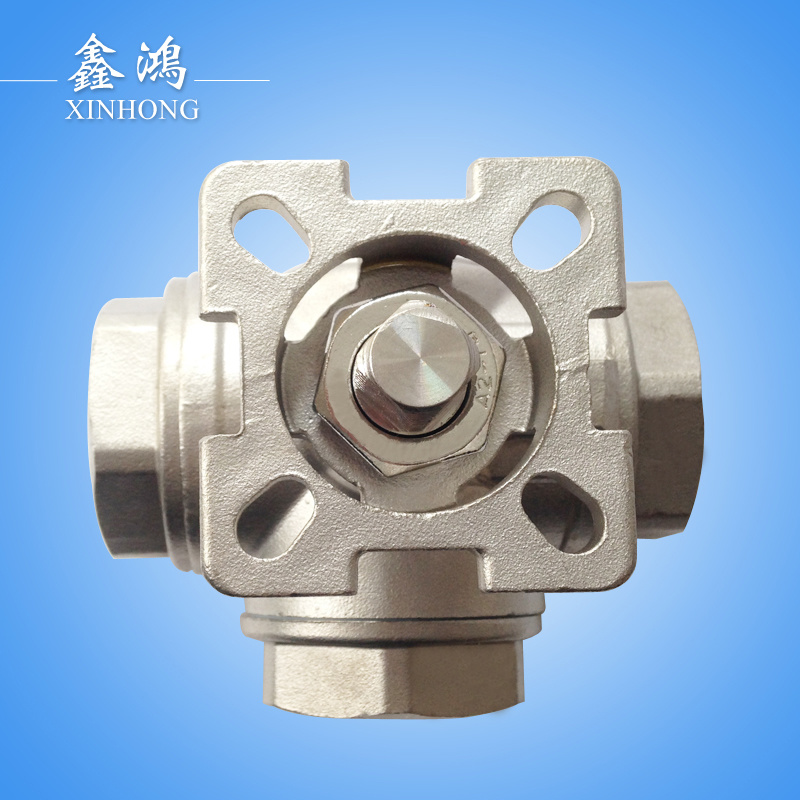 Stainless Steel Three-Way Platform Ball Valve Dn15
