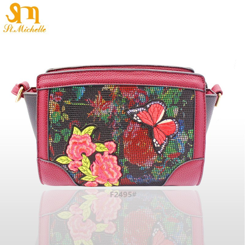 2017 Fashion Lady Handbag with Flower Pattern