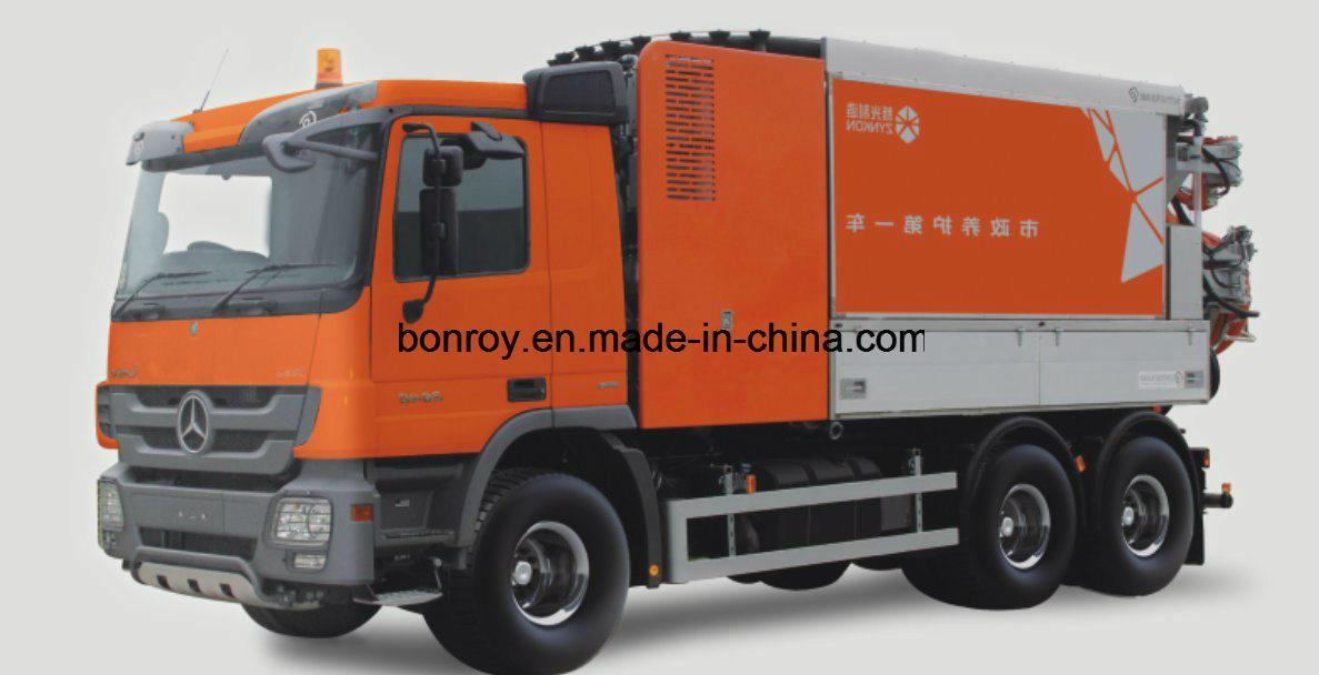Combination High-Pressure Cleaning Vacuum Sewage, Sewage Sludge Circulation Dredging Vehicle/Truck