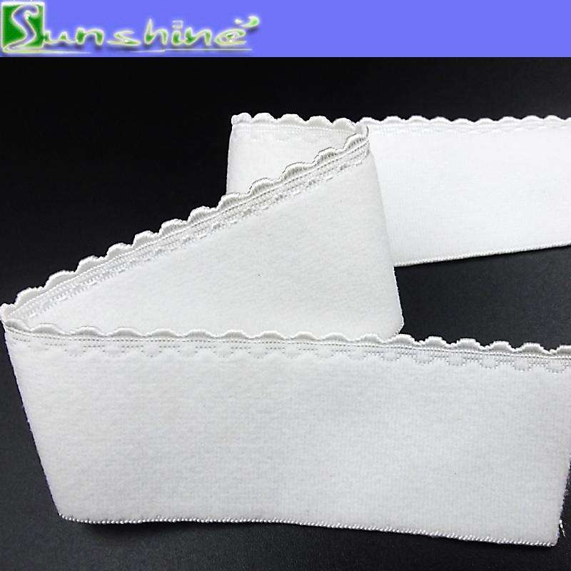 20mm White Underwear Picot Elastic Webbing in Stock