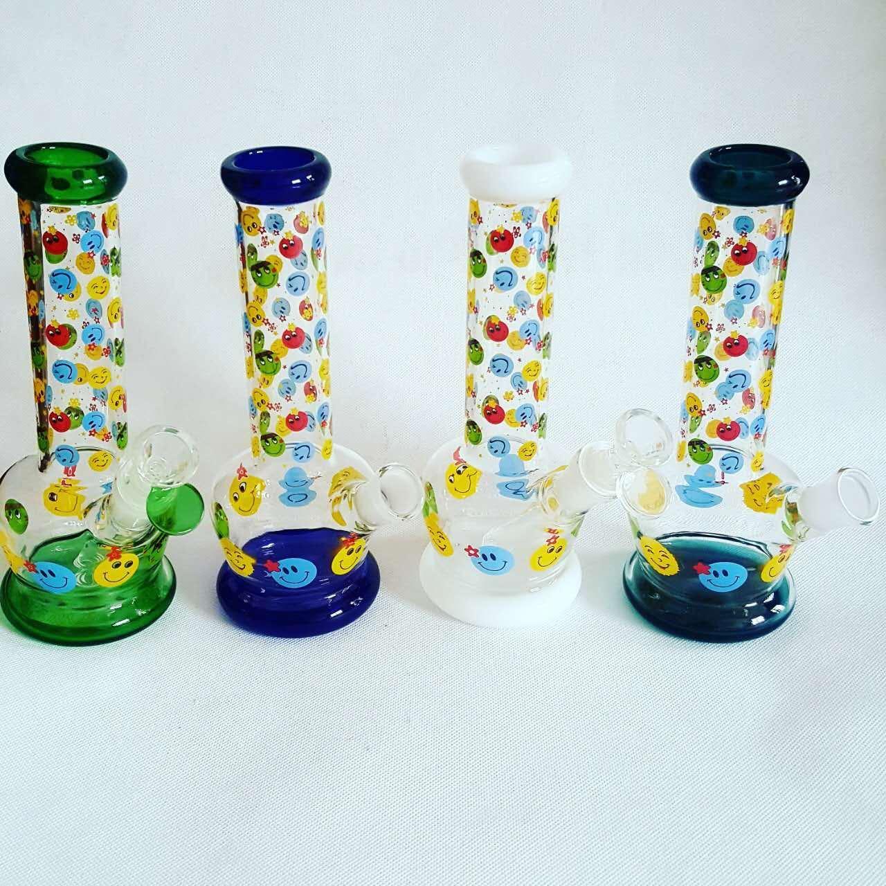 Nice Cartoon Colorfull Base Beaker Glass Smoking Water Pipes