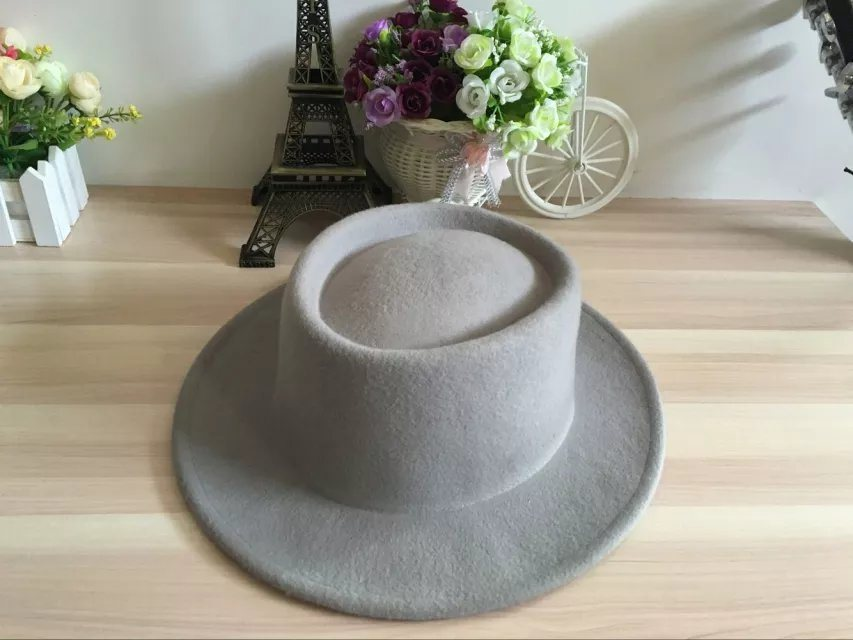 Circle Ring Top Wool Felt Hat for Man Trilby Winter Hat