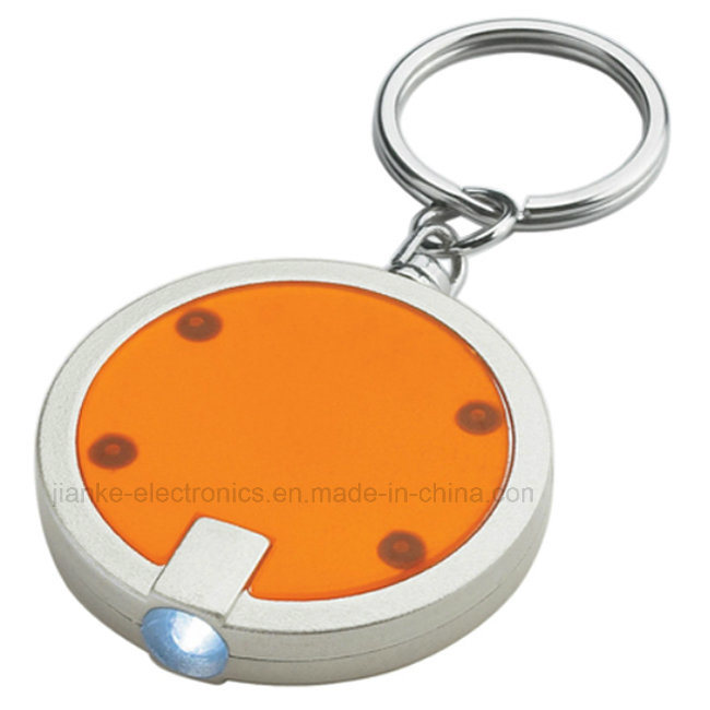 2016 New Promotion Gifts LED Flashlight Key Ring with Logo Printed (4091)