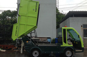 Electric Refuse Truck with Back Loading Ce Approved