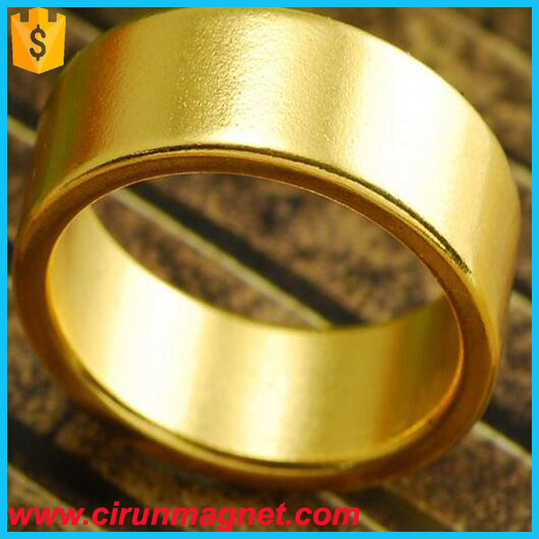 Customized Golden D30*D25*3mm N52 Ring Neodymium Magnet