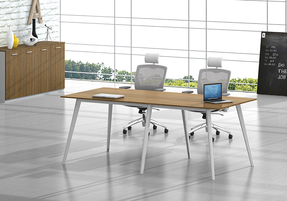 White Customized Metal Steel Office Conference Table Leg with Ht97-3