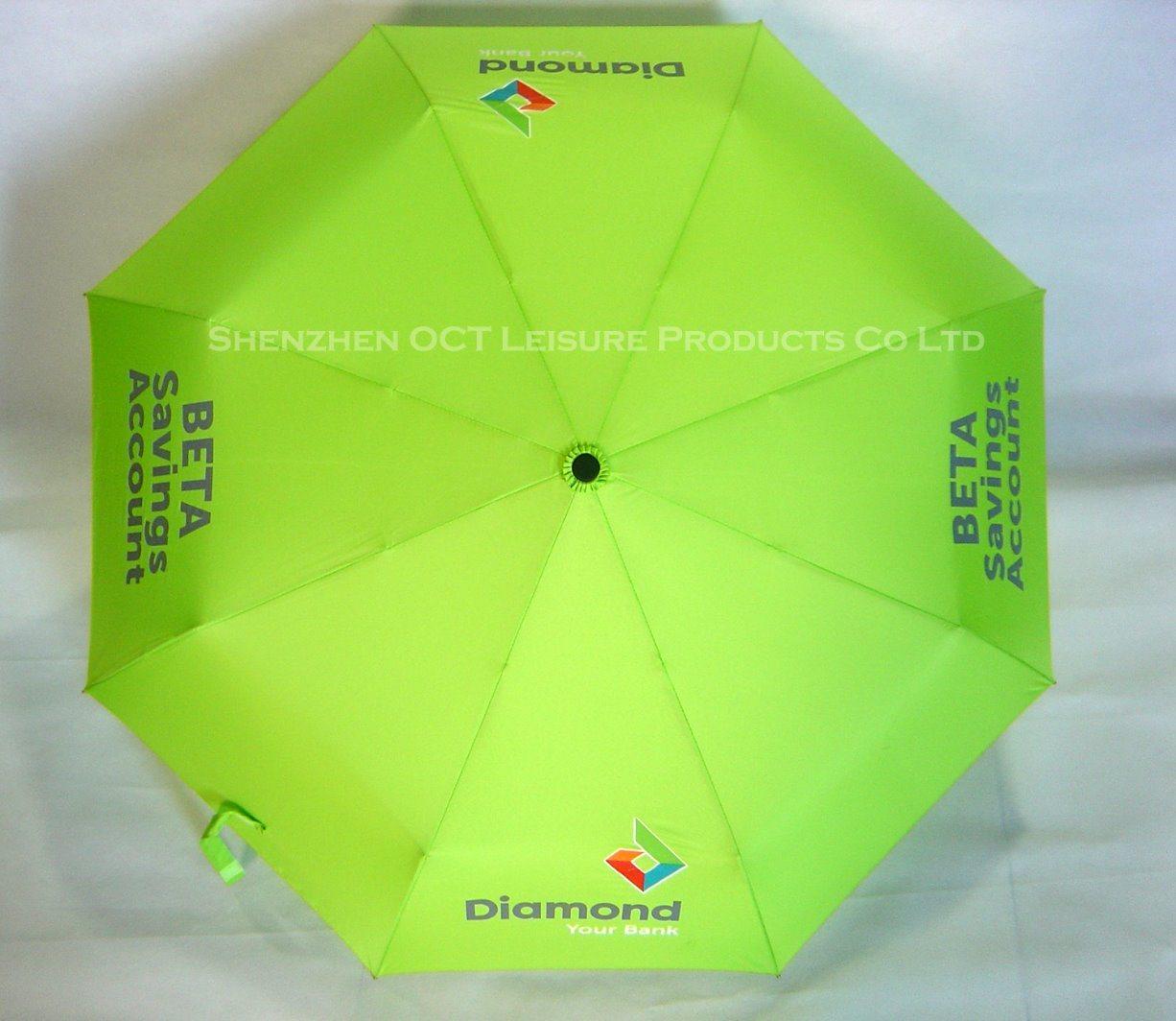 Customized 3fold Auto Open & Close Umbrella of High Quality