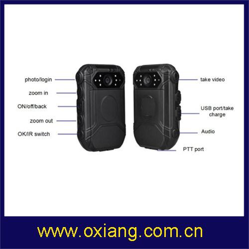 Police Body Worn Camera with WiFi / Bluetooth / 4G / 3G / GPS