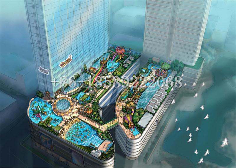 Professional Conceptual Design Fiberglass Water Park for Amusement
