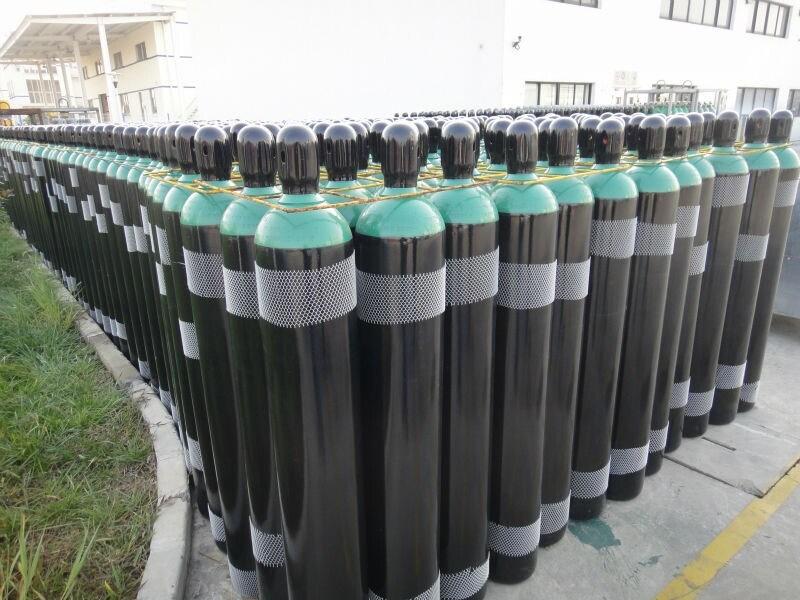 ISO9809-3 40L 150bar Oxygen Gas Cylinder