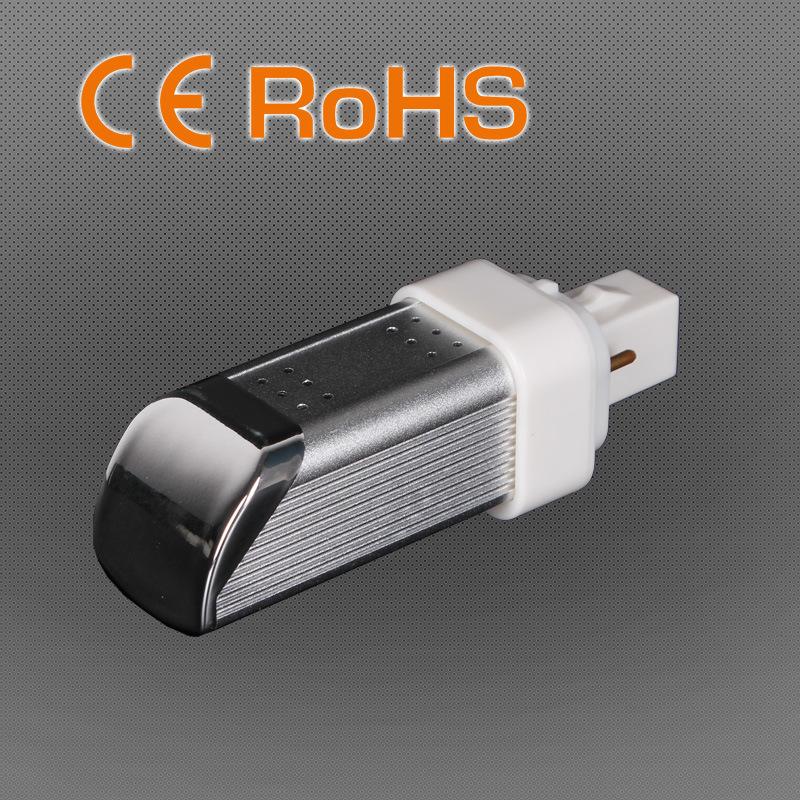 4W No Flicker 2700-6500k G24/E27 LED Pl Light, >50000hrs, Factory Direct