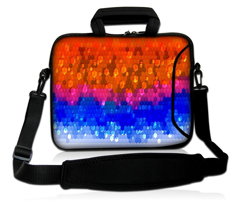 "Colorful Pattern Laptop Bag 17"" Neoprene Sleeve Case with Handle&Shoulder Strap"