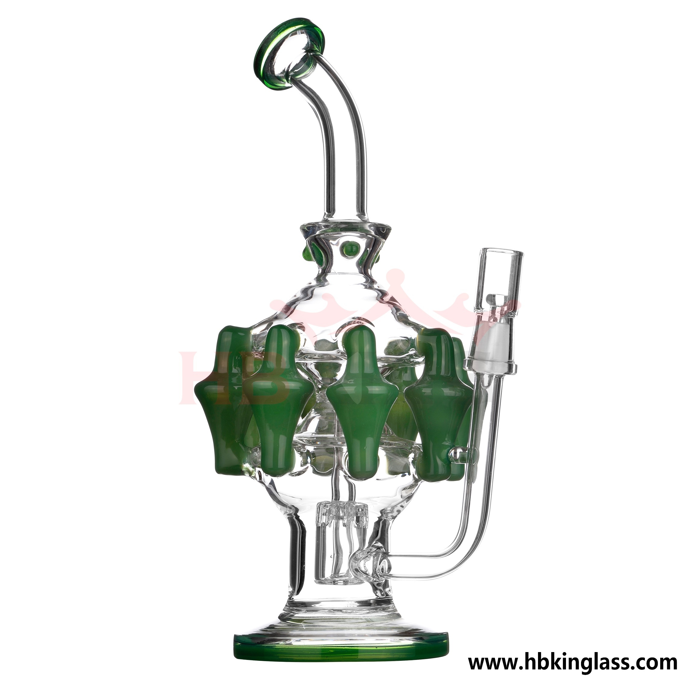 Manufacturer Price 18inch 1.4kg Water Pipe Glass Smoking Pipe