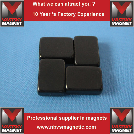 Block Shape Black Epoxy NdFeB Thin Magnet