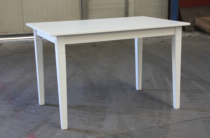 White Color Table Wooden Dining Table (M-X1073)