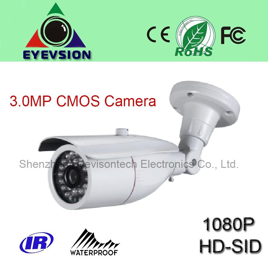 3.0MP CMOS HD (1080P) Security Sdi Camera with Weatherproof Infrared (EV-802SDI300IR)