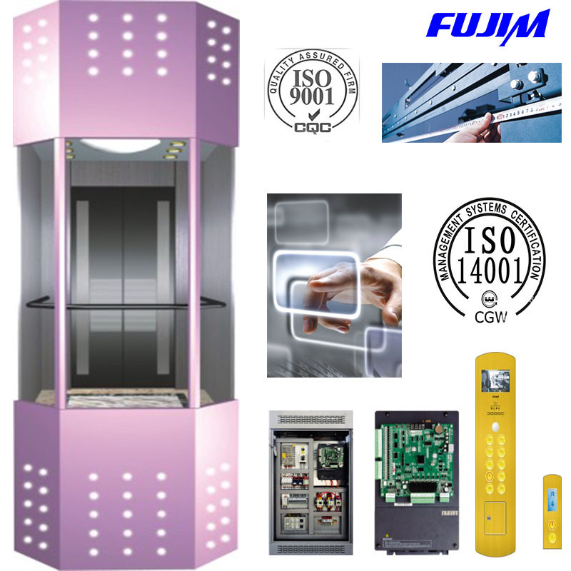 Machine Roomless Observation Elevator for Shopping Mall