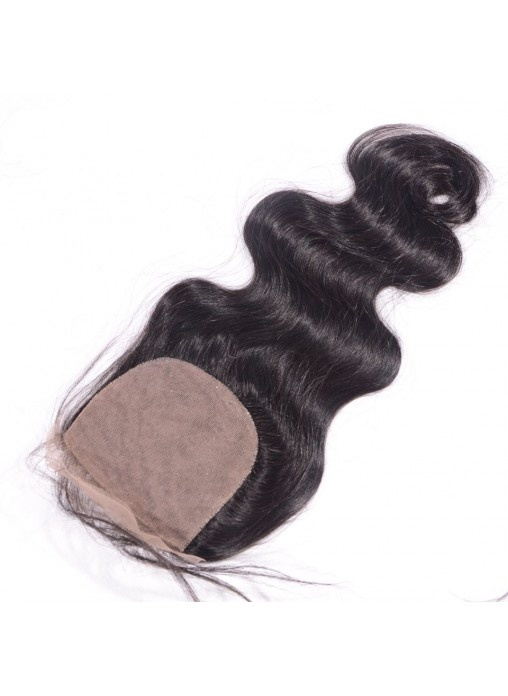 Brazilian Human Hair Silk Closure 4X4 Body Wave with Baby Hair
