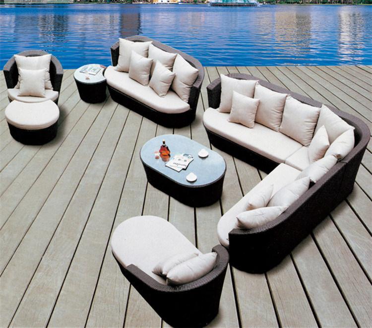 Outdoor Leisure Sofa Garden Furniture Rattan / Wicker Sofa S247