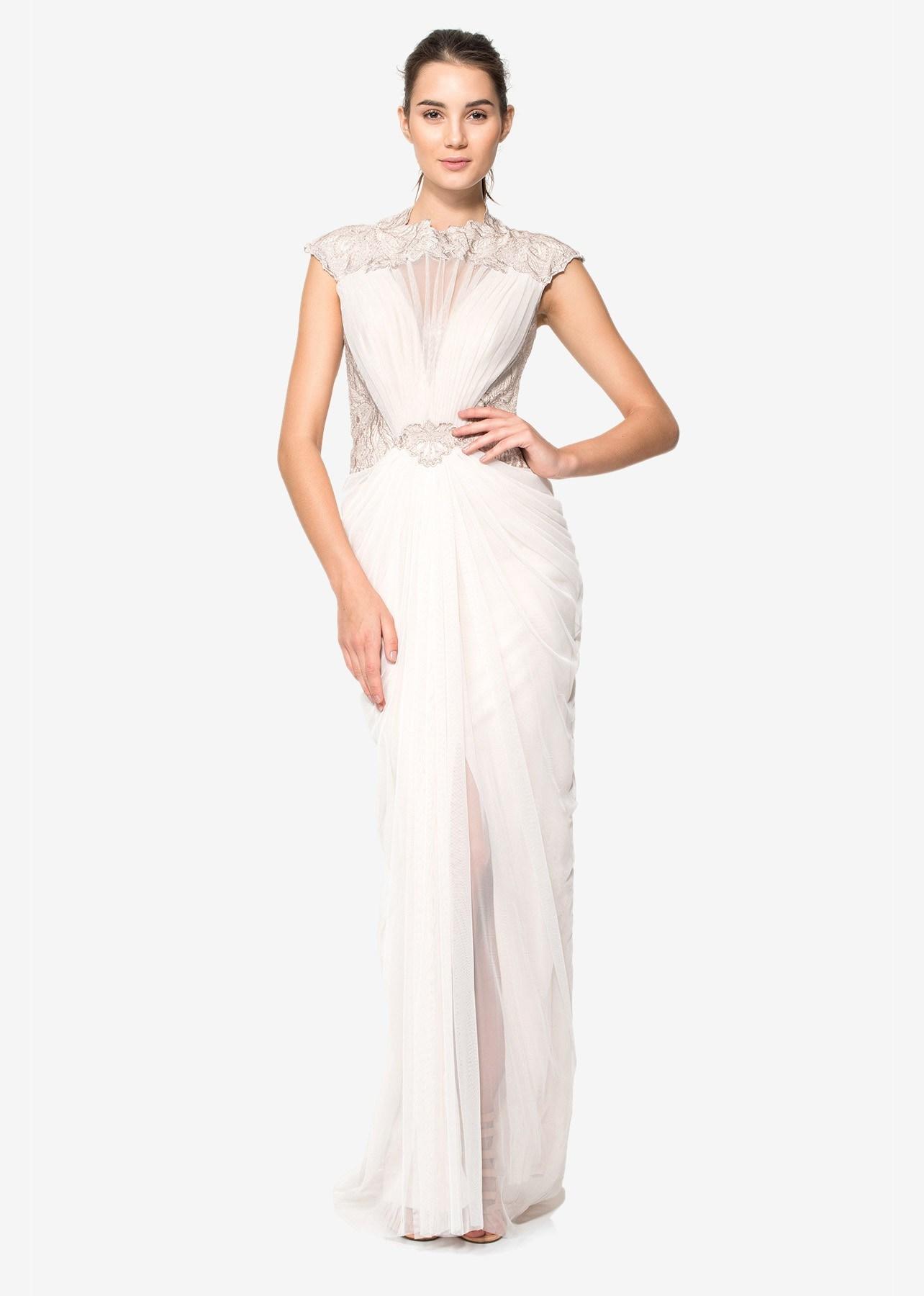 2018 Charming A Line Spaghetti Straps Sleeveless Beaded Floor Length Evening Dress for Wedding (HS036)
