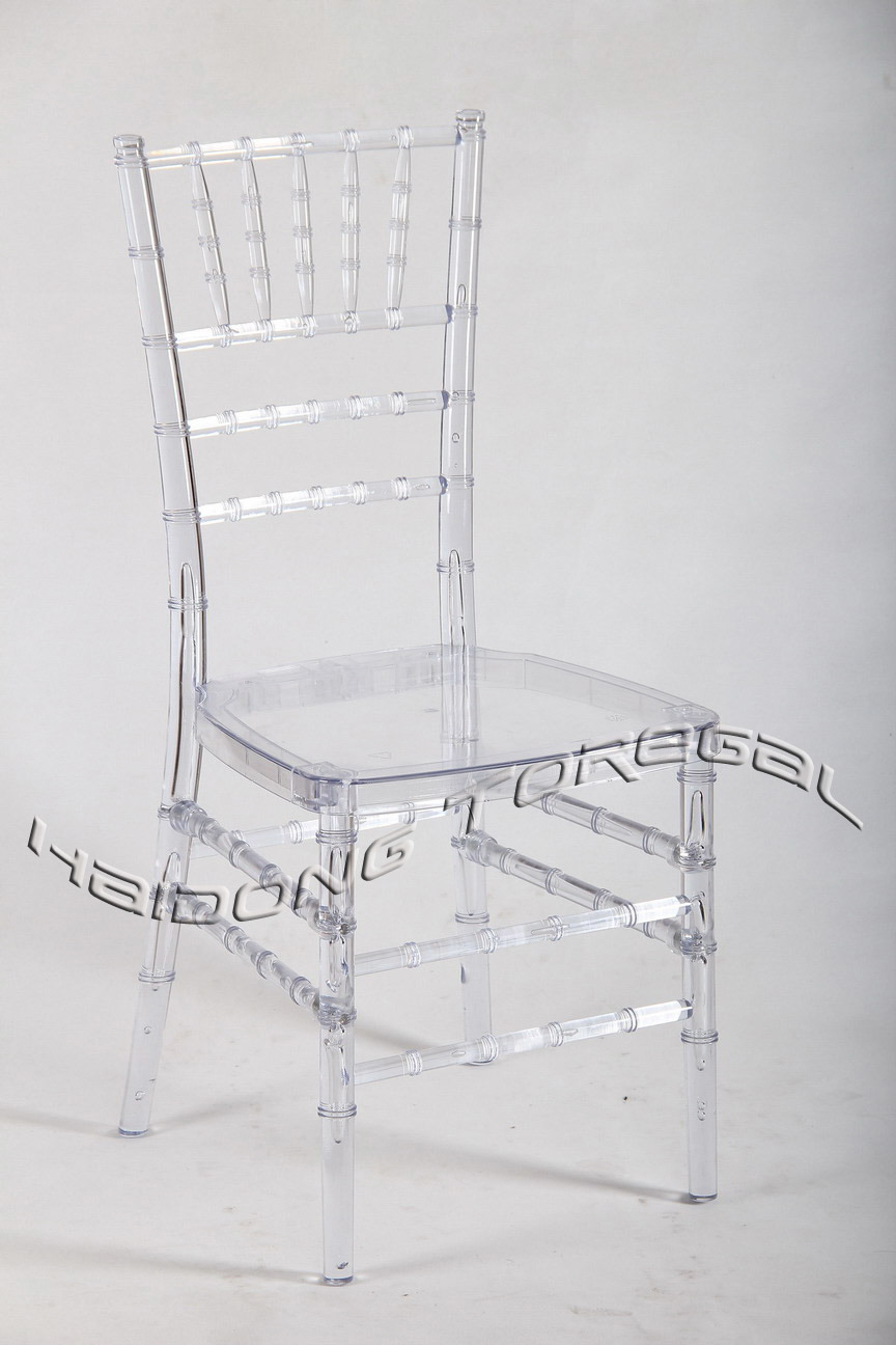 China Wholesale Transparent Clear Resin Wedding Tiffany Chair