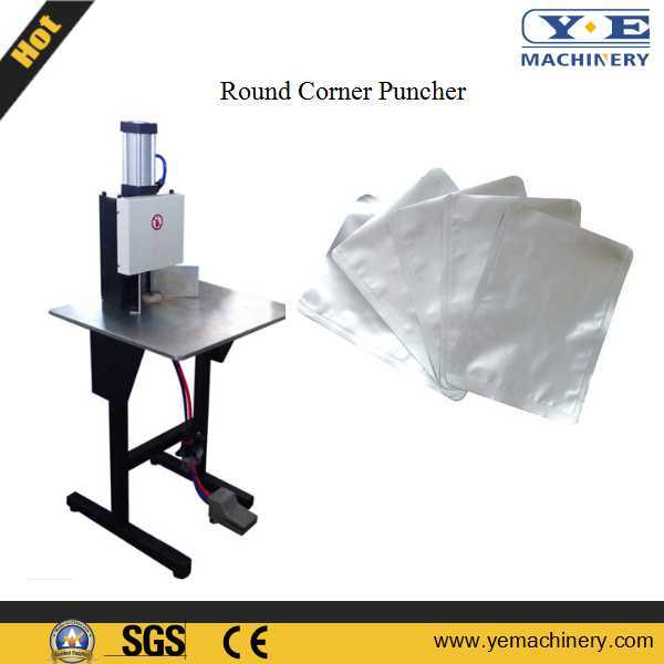 Manual Flexible Pouch Pneumatic Round Corner Punching Machine