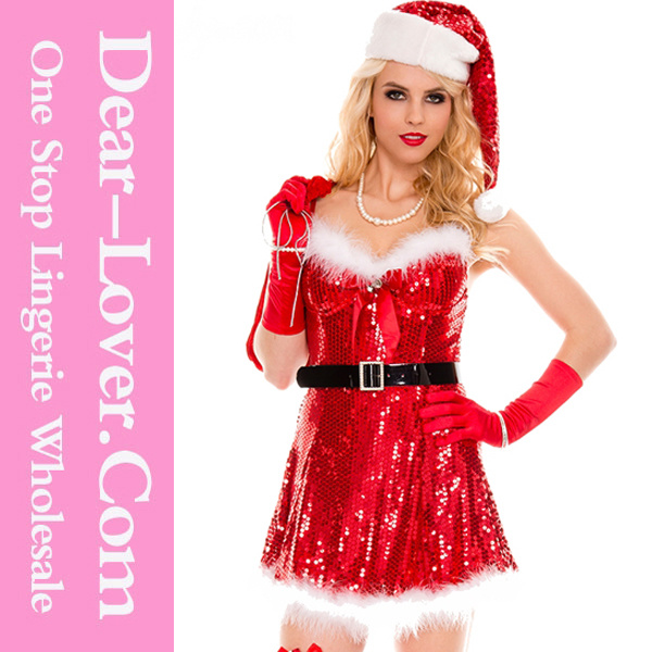 2016 Sexy Adult Lingerie Christmas Santa Dress