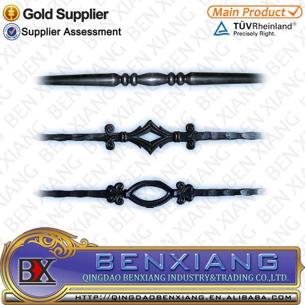 Garden Fence Designs Wrought Iron Pickets Forged Steel Fence Railing Parts Forging Rod