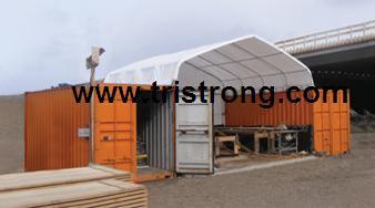 Outdoor Rain Shelter, Clear Span Container Tent (TSU-2020C/TSU-2040C)