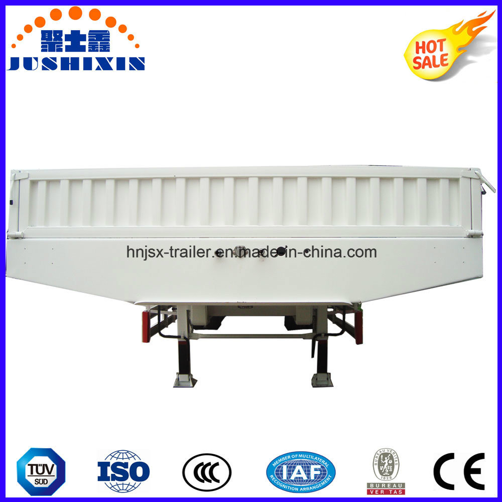 80t-100t Low Flatbed/Lowboy Semi Truck Trailer with Sidewall
